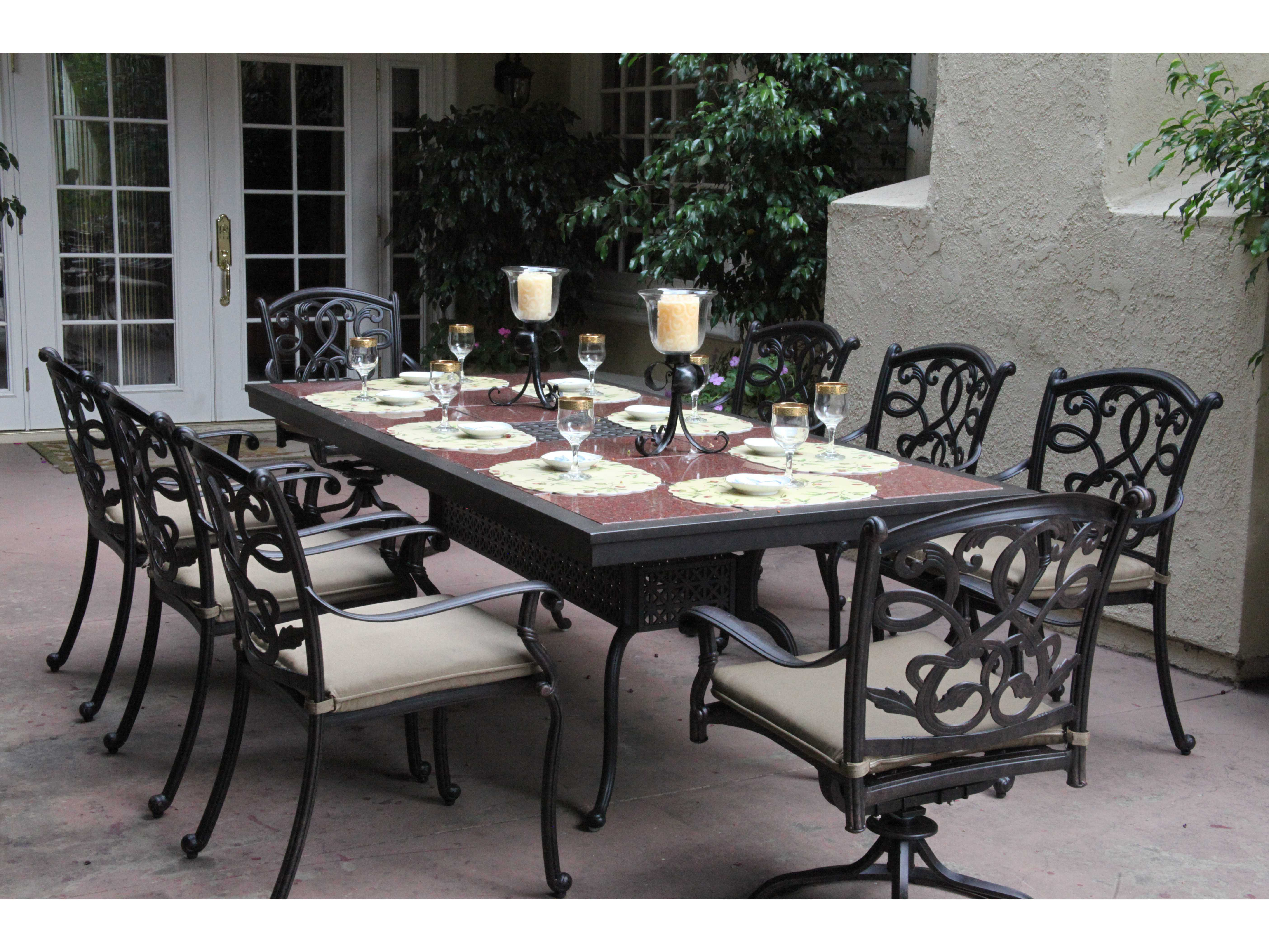 outdoor dining table granite photo - 1