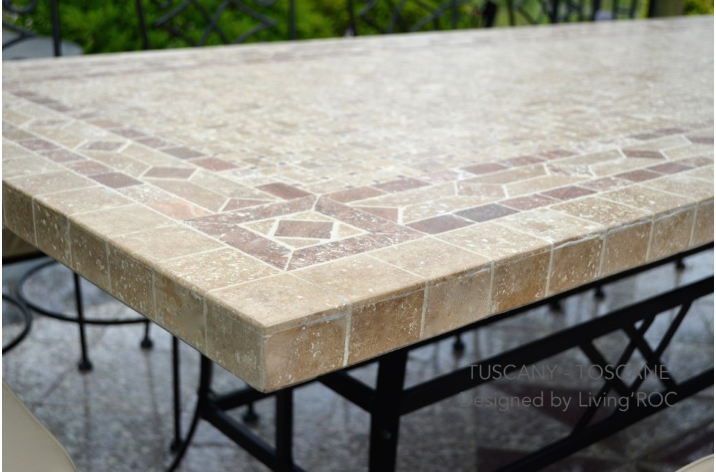 outdoor dining table granite photo - 3
