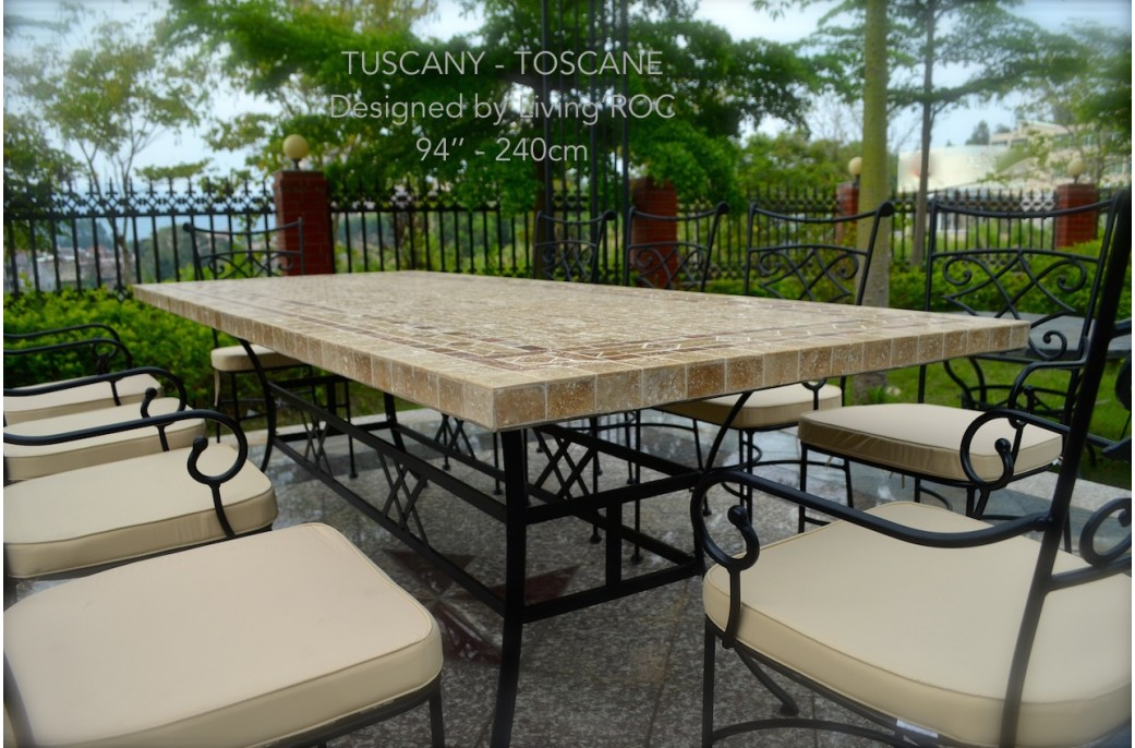 outdoor dining table granite photo - 7