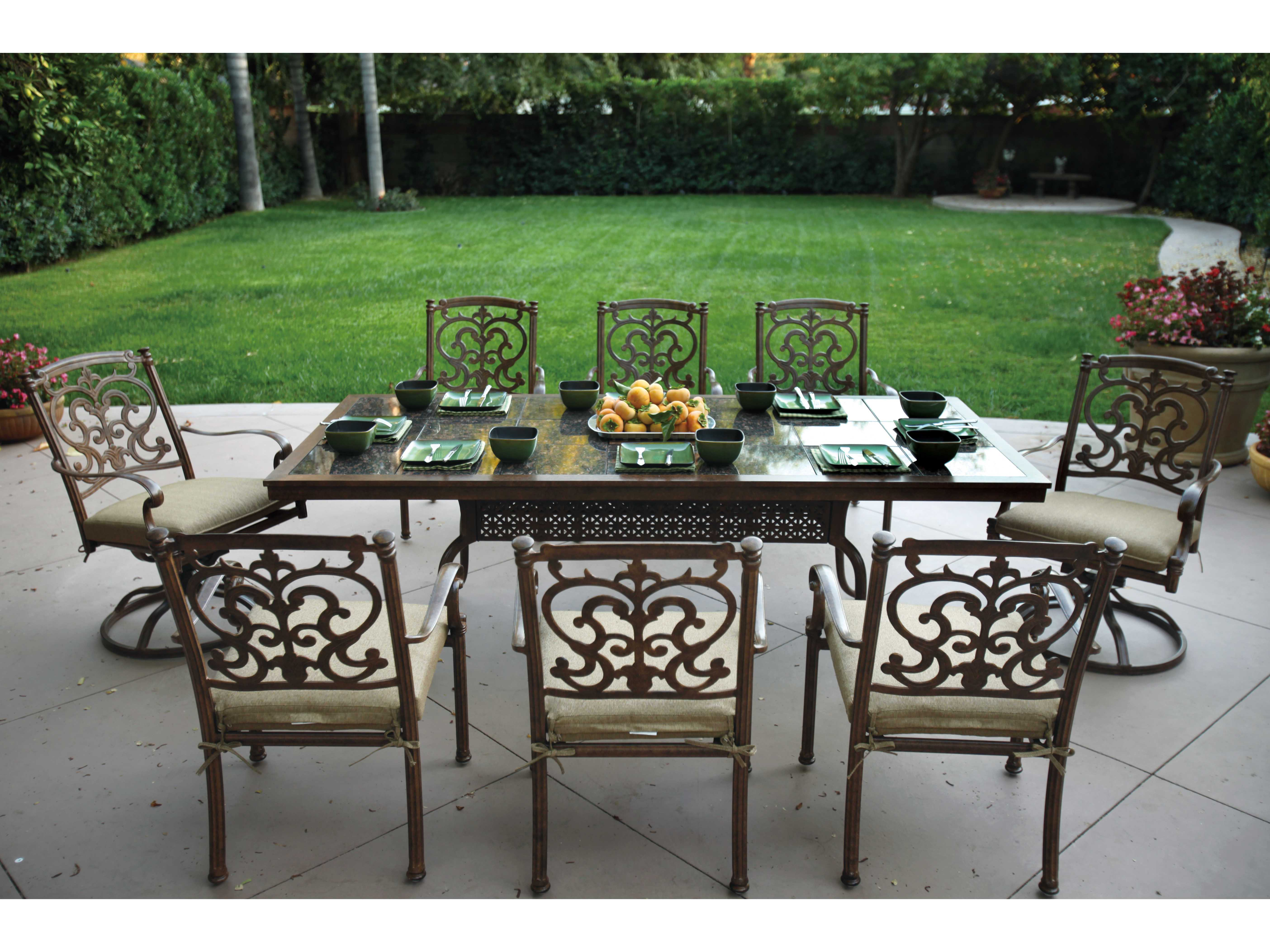 outdoor dining table granite photo - 8
