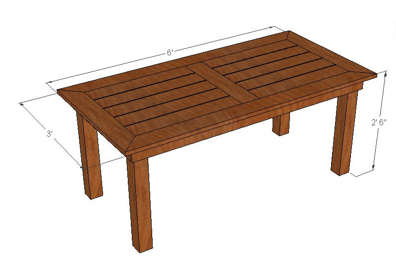 outdoor dining table plans photo - 2