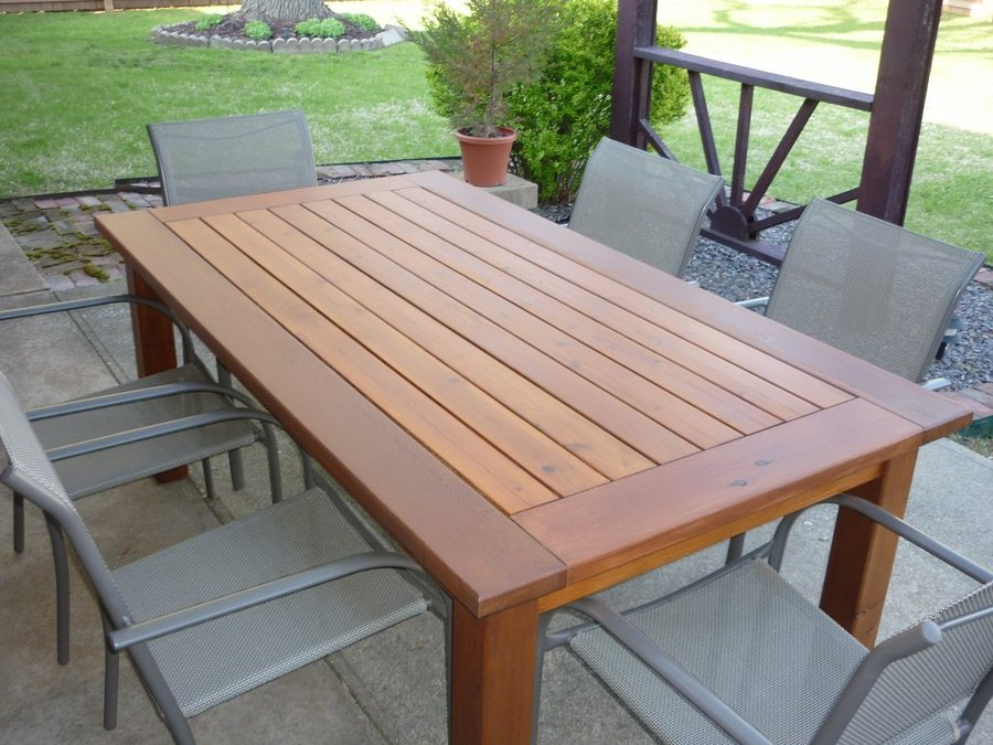 outdoor dining table plans photo - 3