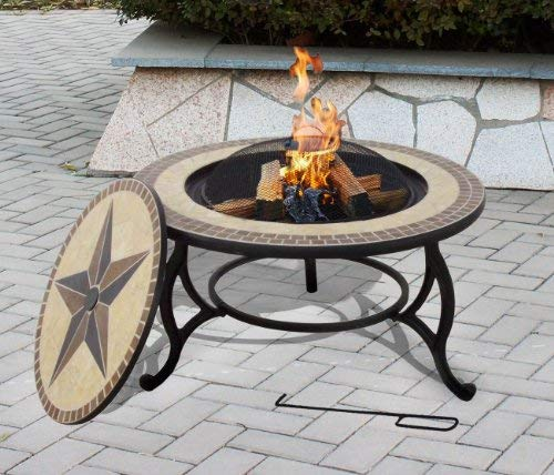 outdoor dining table with grill photo - 10