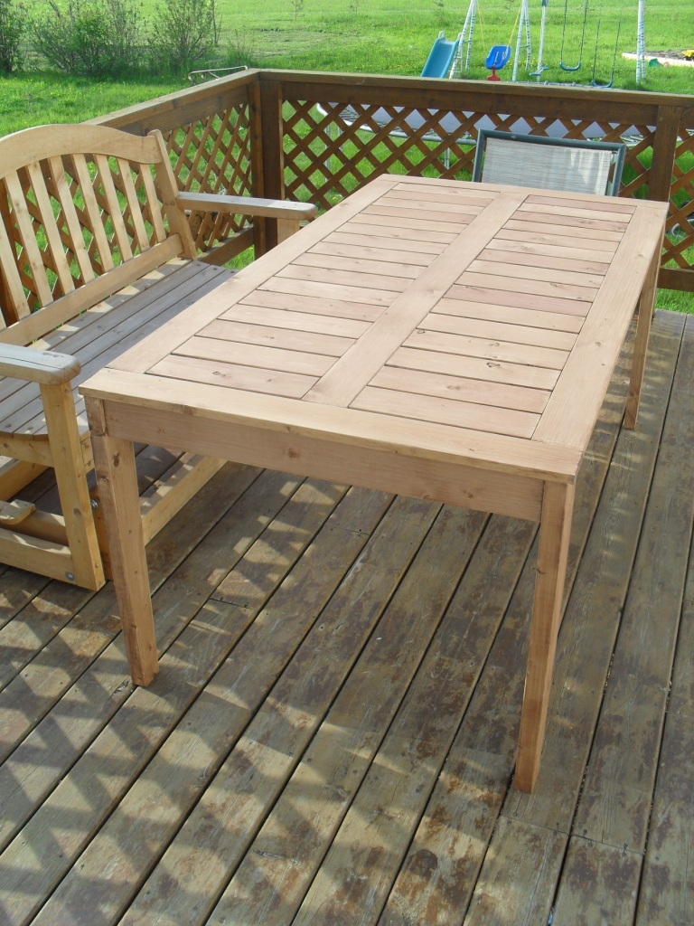outdoor dining table with grill photo - 5
