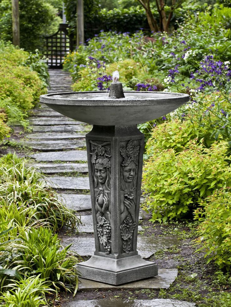 outdoor garden drinking fountain photo - 4