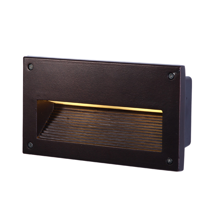 outdoor inset wall lighting photo - 2