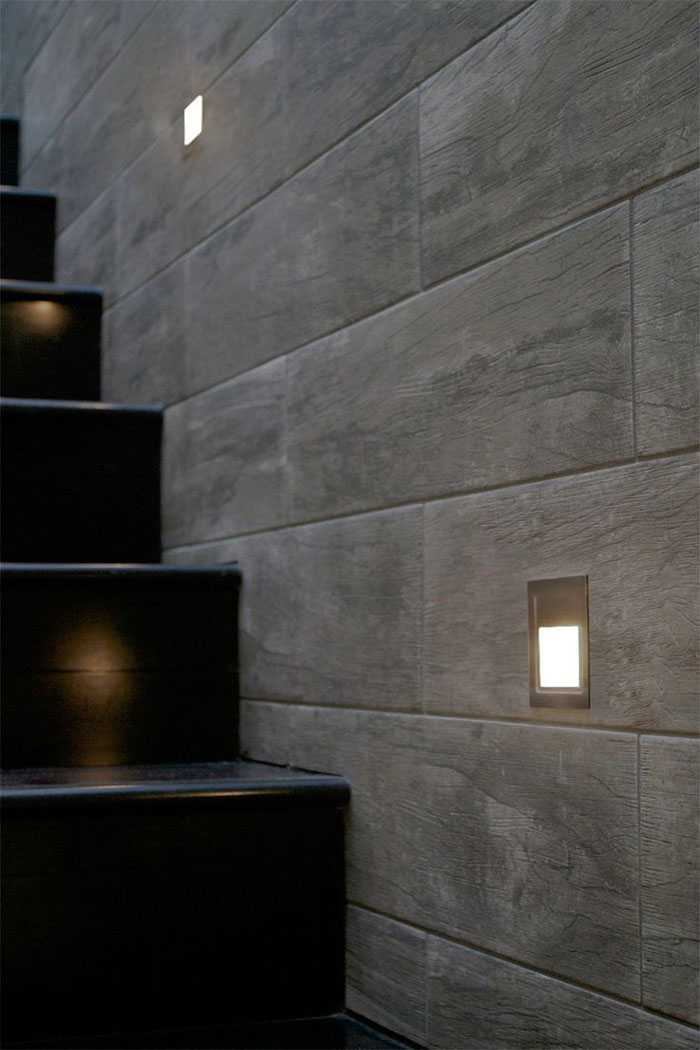 outdoor inset wall lighting photo - 3