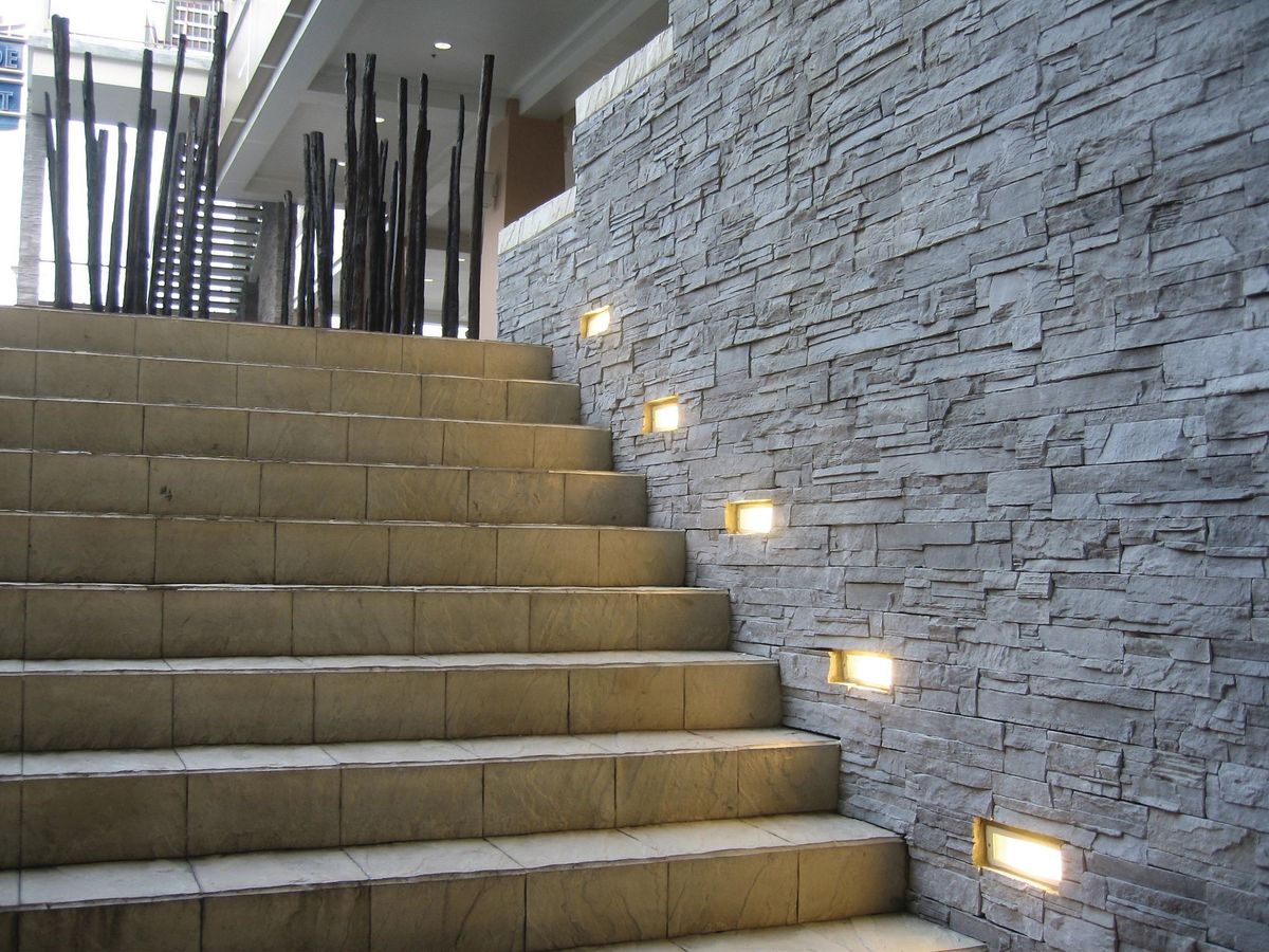 outdoor inset wall lighting photo - 6