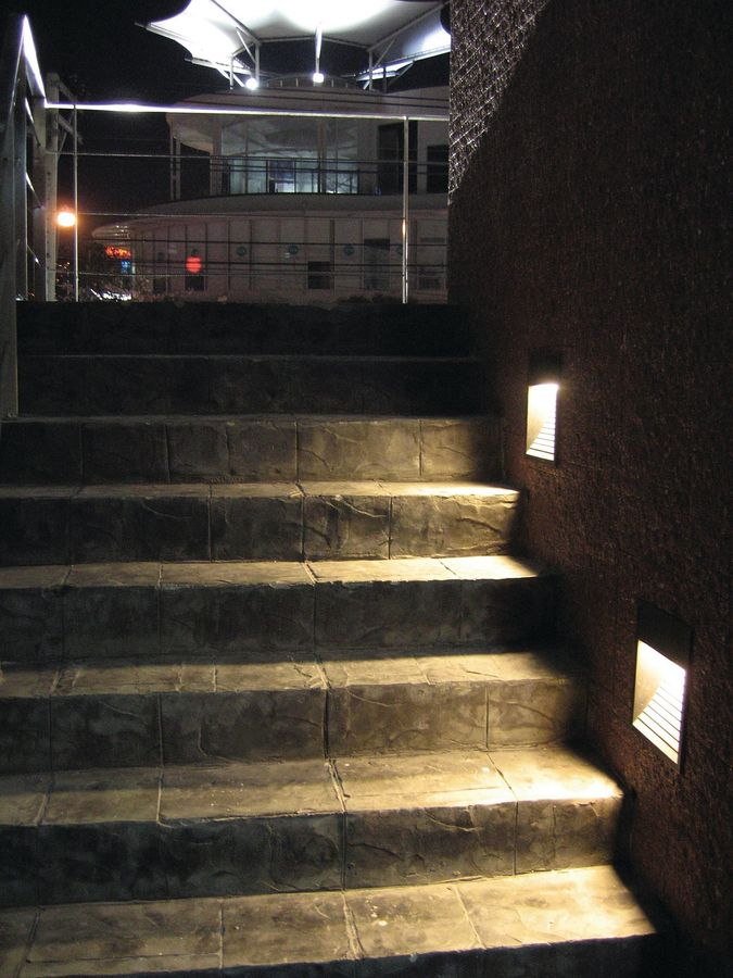 outdoor inset wall lighting photo - 7