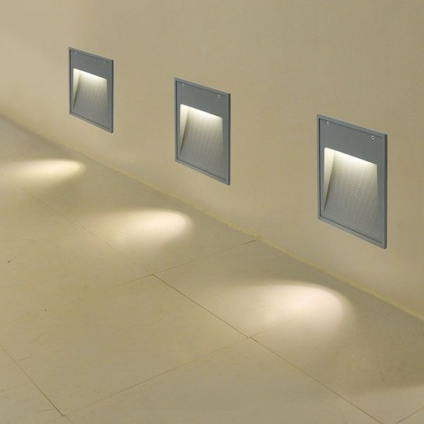 outdoor inset wall lighting photo - 8