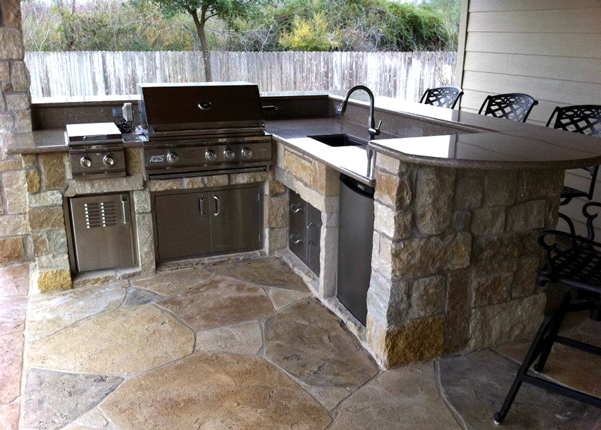 outdoor kitchen granite countertops photo - 4