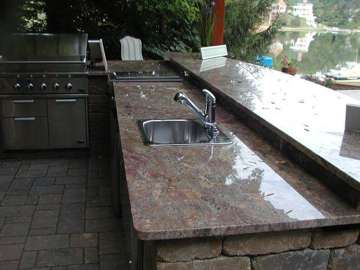 outdoor kitchen granite countertops photo - 5