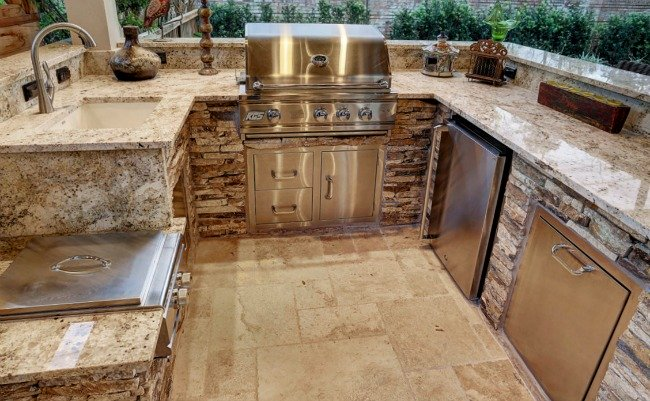 outdoor kitchen granite countertops photo - 9