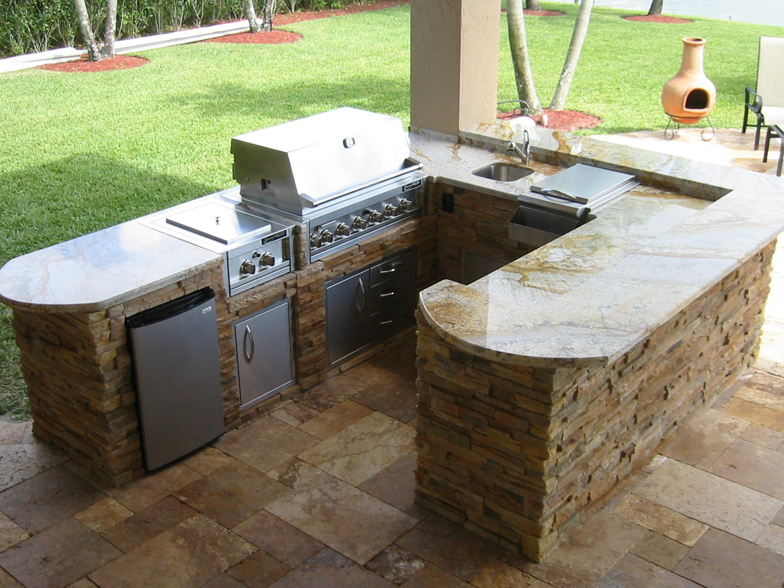 outdoor kitchen island plans photo - 1