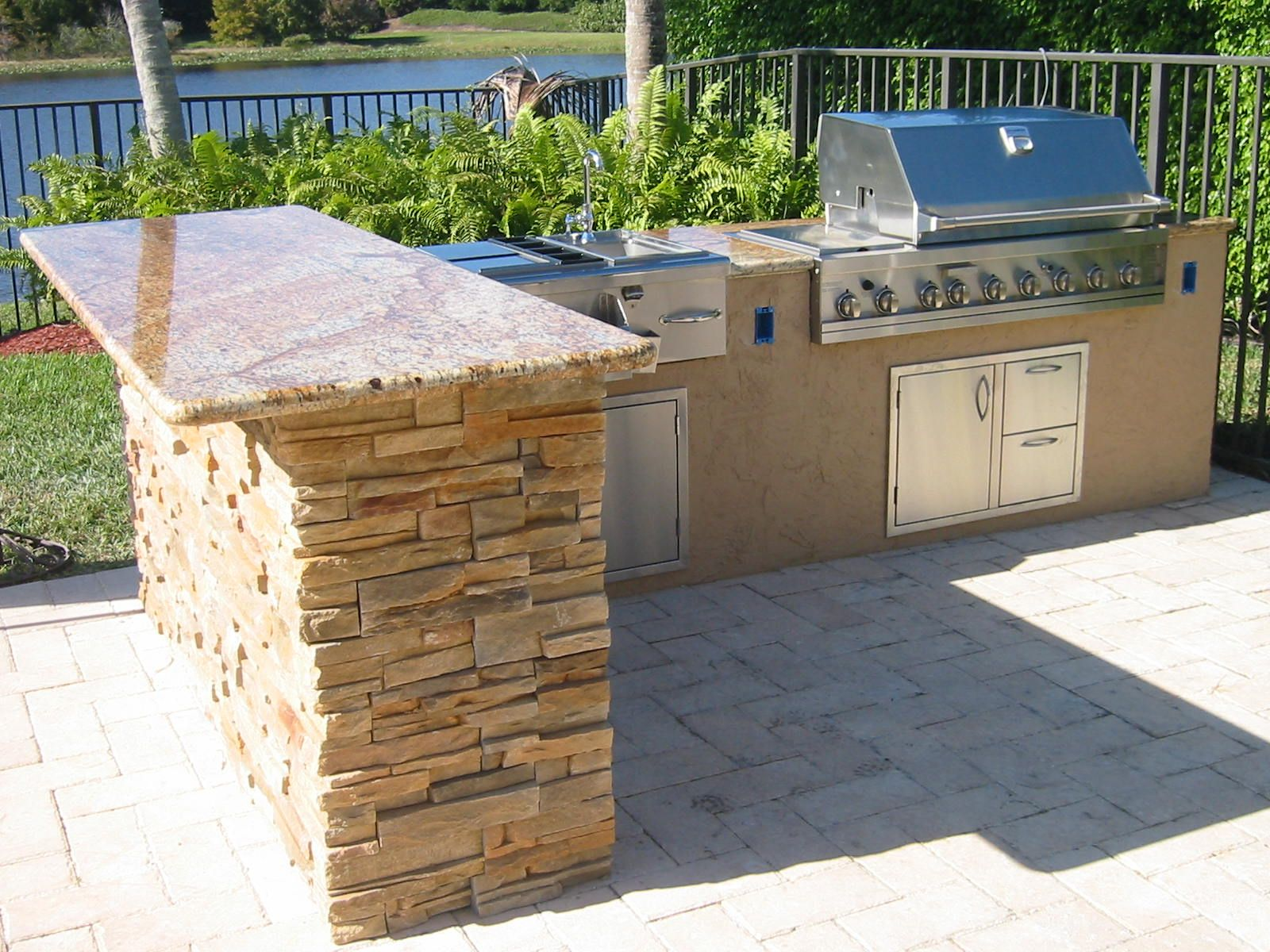 outdoor kitchen island plans photo - 3