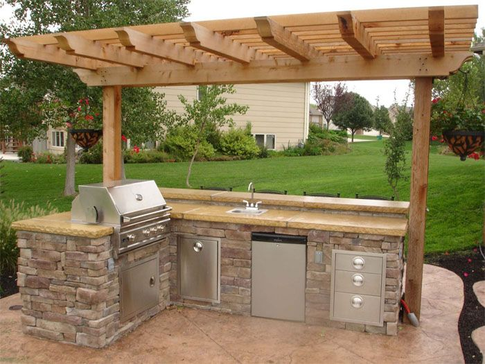 outdoor kitchen island plans photo - 4
