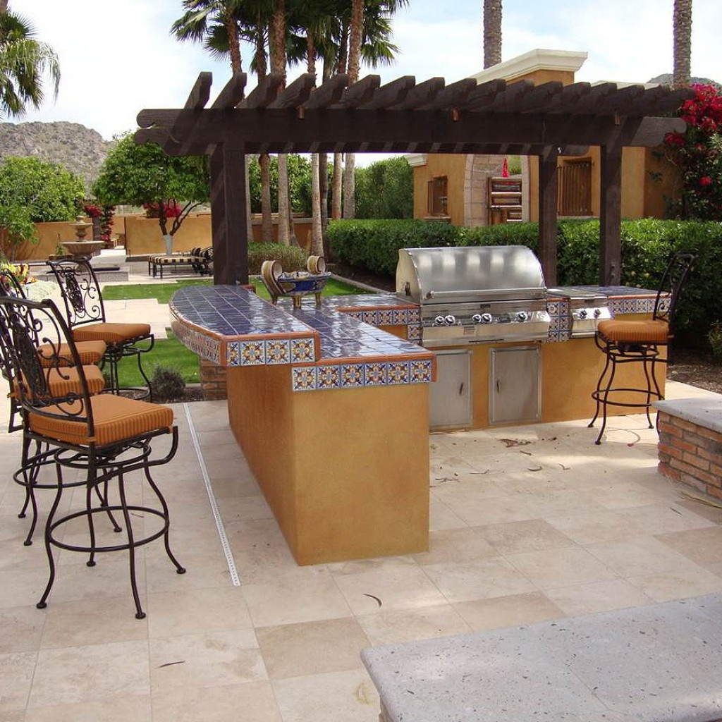 outdoor kitchen island plans photo - 8