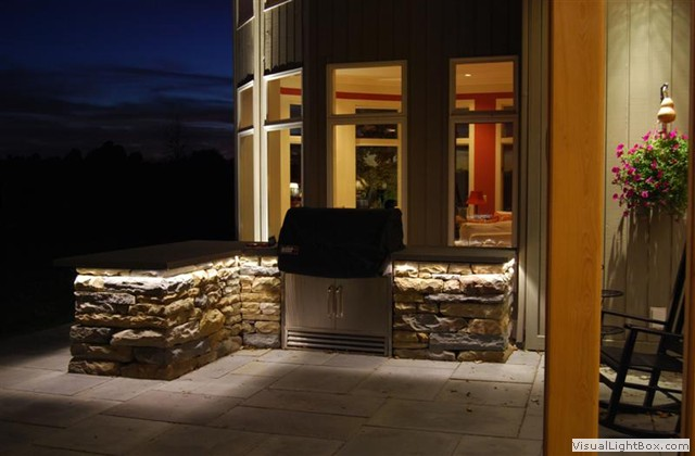 outdoor kitchen lighting photo - 10