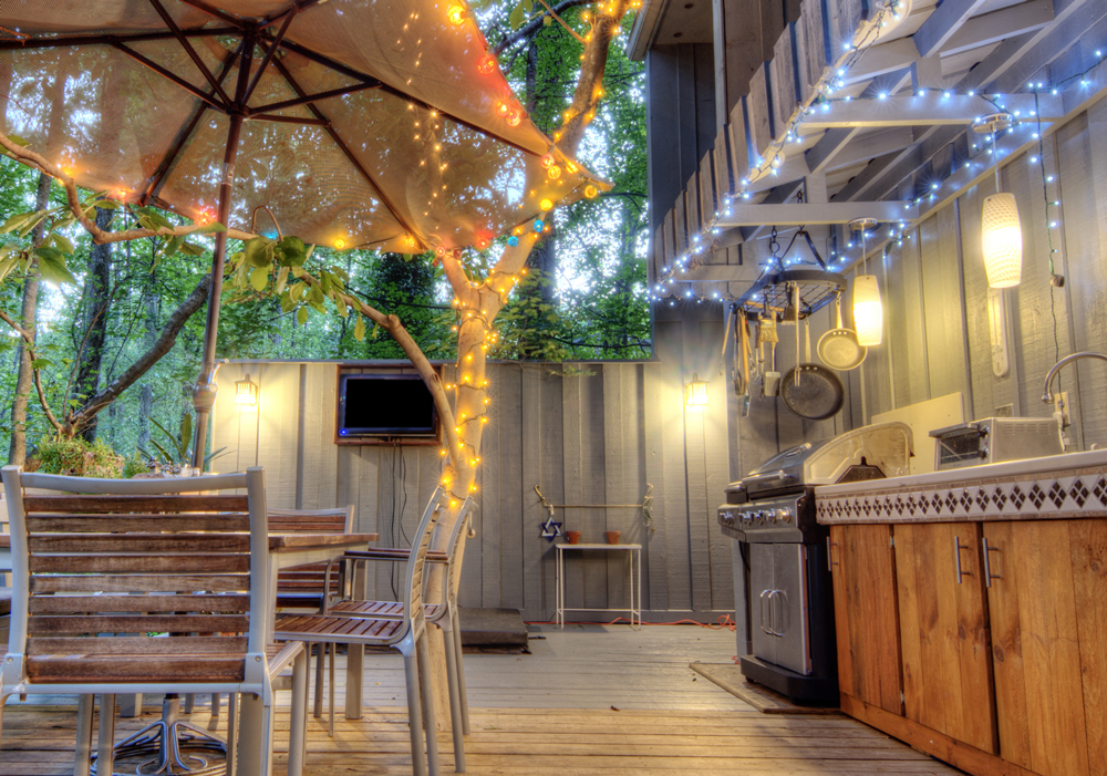 outdoor kitchen lighting photo - 4