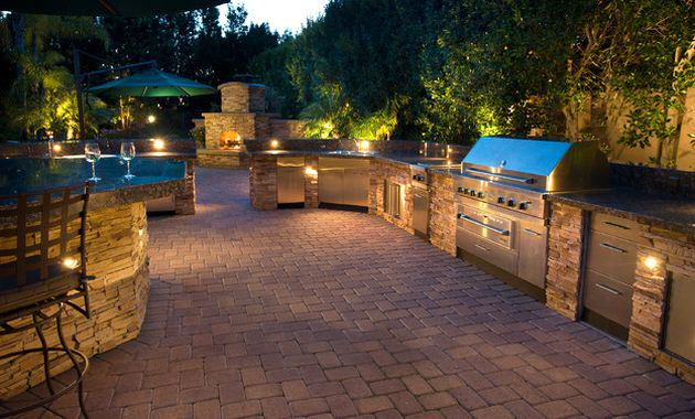 outdoor kitchen lighting photo - 5