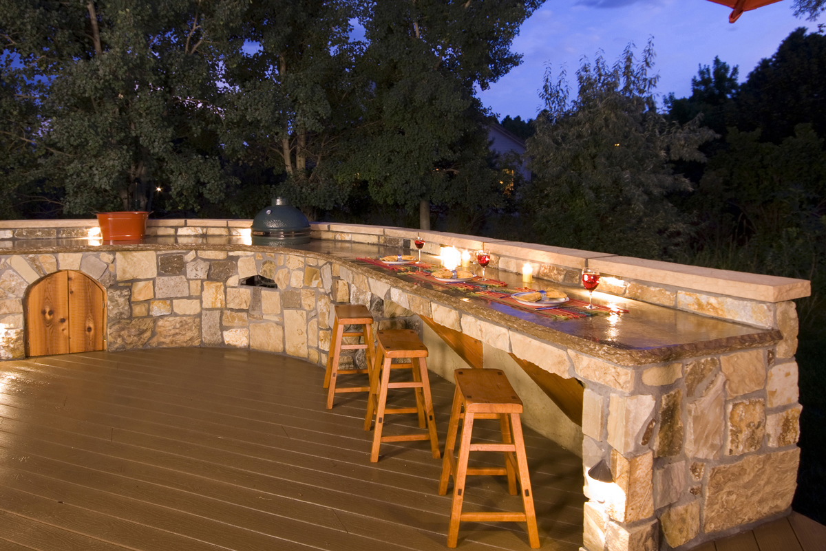 outdoor kitchen lighting photo - 7