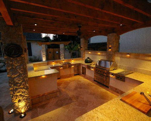 outdoor kitchen lighting photo - 8