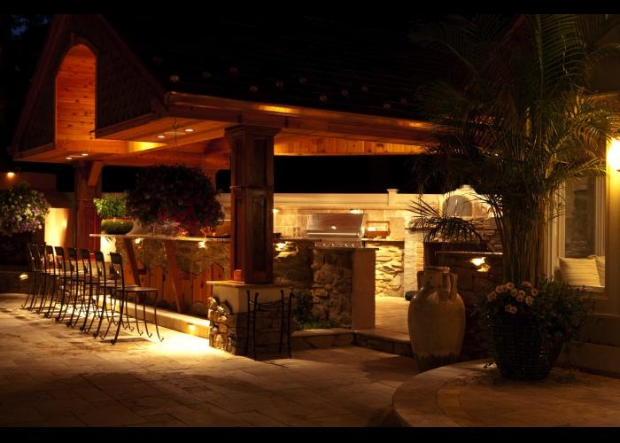 outdoor kitchen lighting photo - 9