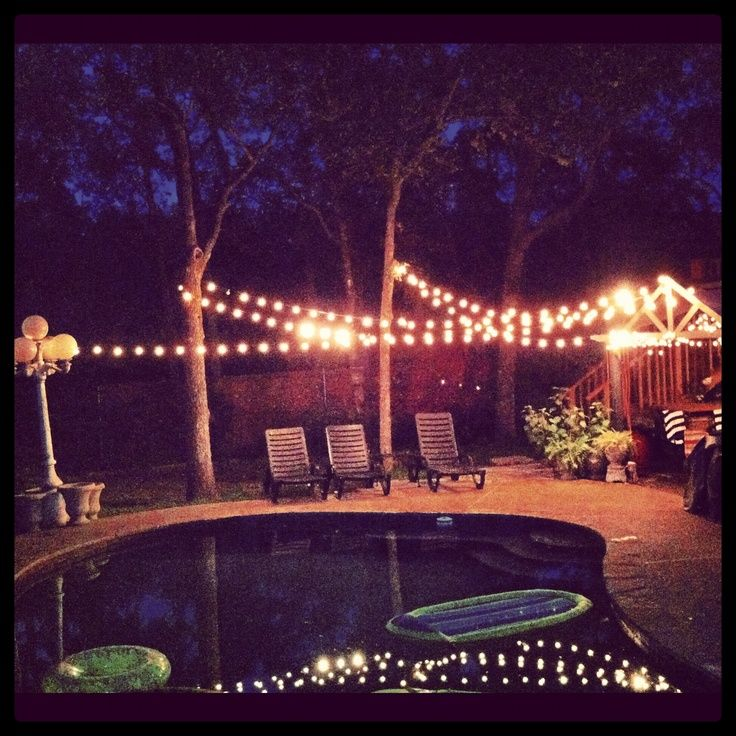 outdoor party lights ideas photo - 7