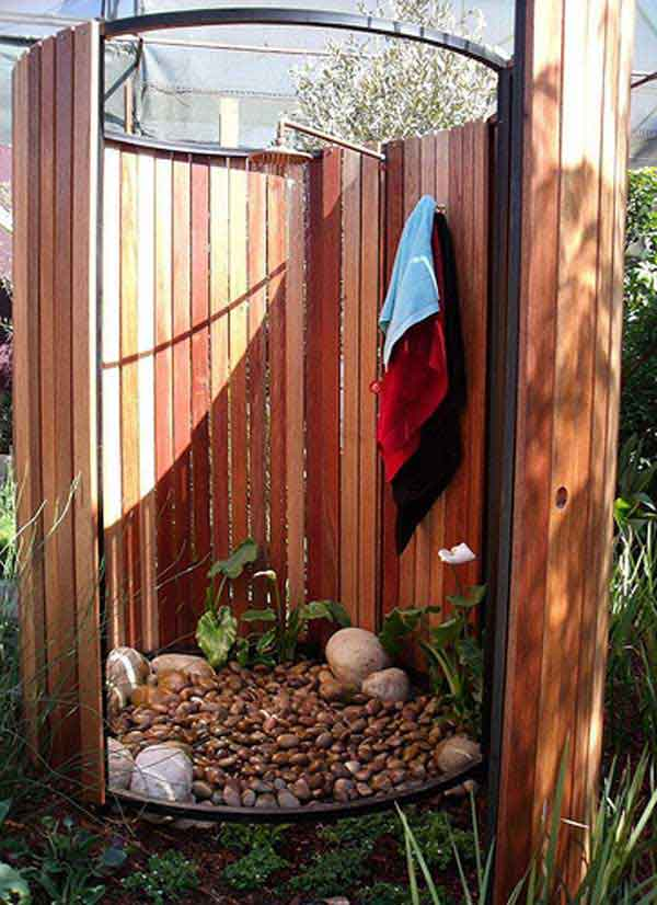 outdoor shower diy photo - 2