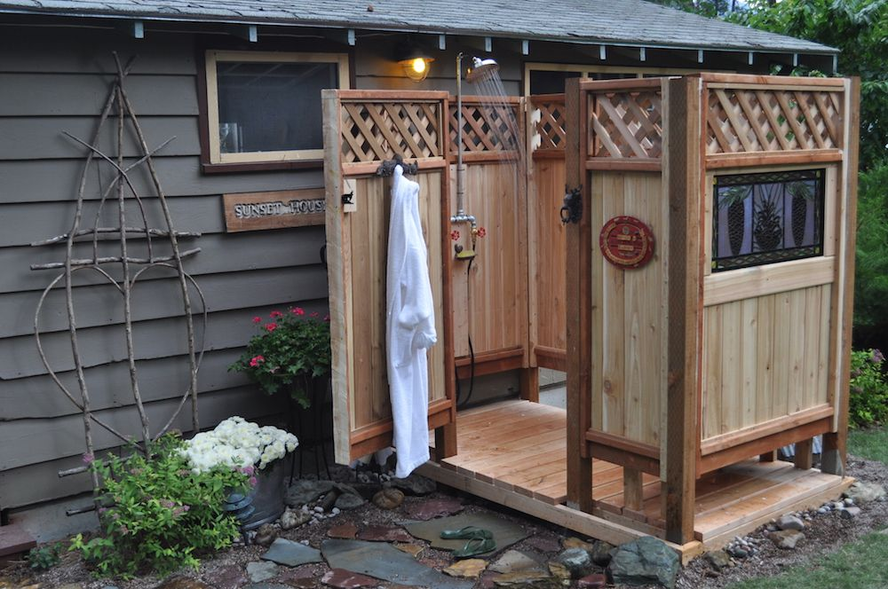 outdoor shower diy photo - 8