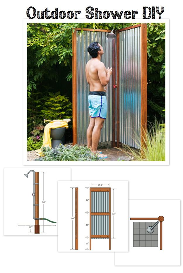 outdoor shower diy photo - 9