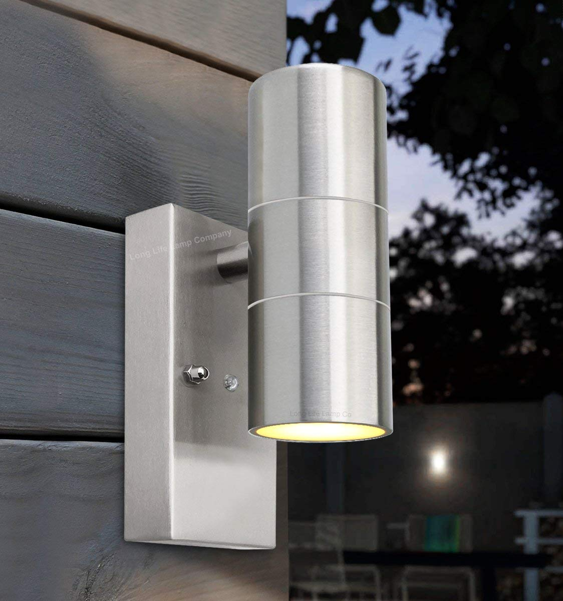 outdoor wall lighting dusk to dawn photo - 3