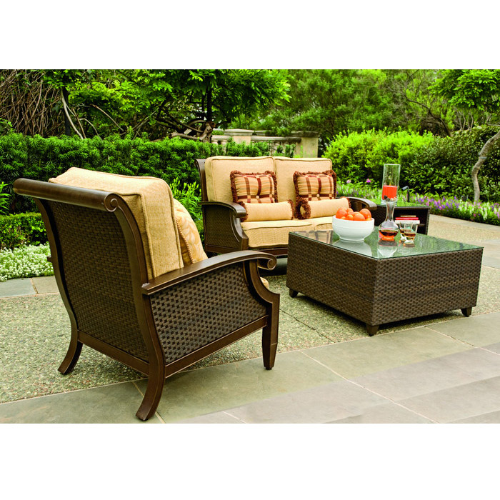outdoor wicker furniture green photo - 5