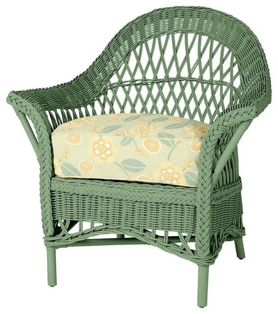outdoor wicker furniture green photo - 6