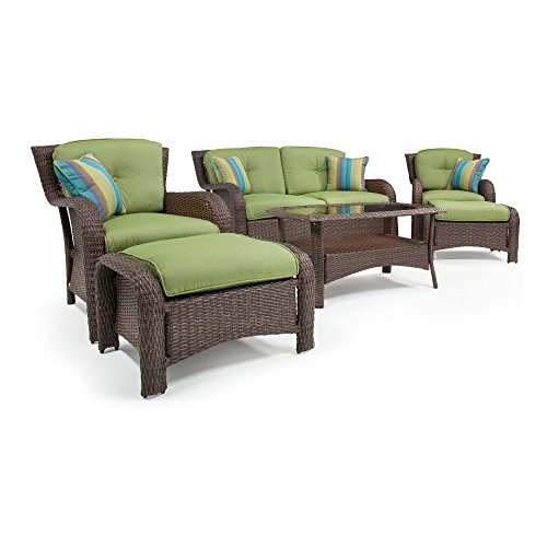 outdoor wicker furniture green photo - 8
