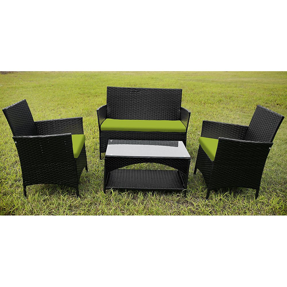 outdoor wicker furniture green photo - 9
