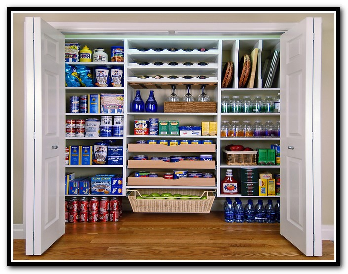 pantry shelving systems wood photo - 10