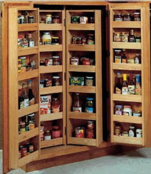 pantry shelving systems wood photo - 4
