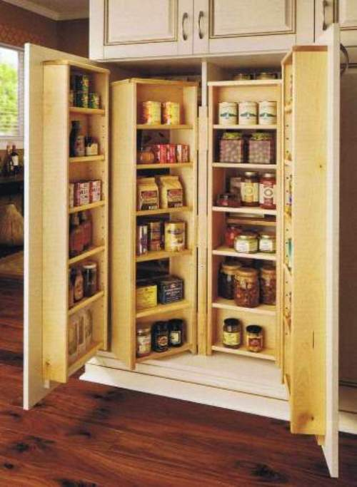 pantry shelving systems wood photo - 6