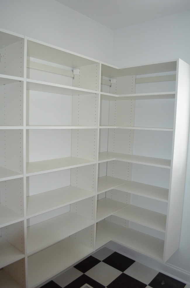 pantry shelving systems wood photo - 8
