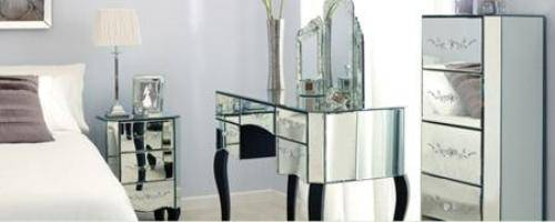 parisian mirrored bedroom furniture photo - 3