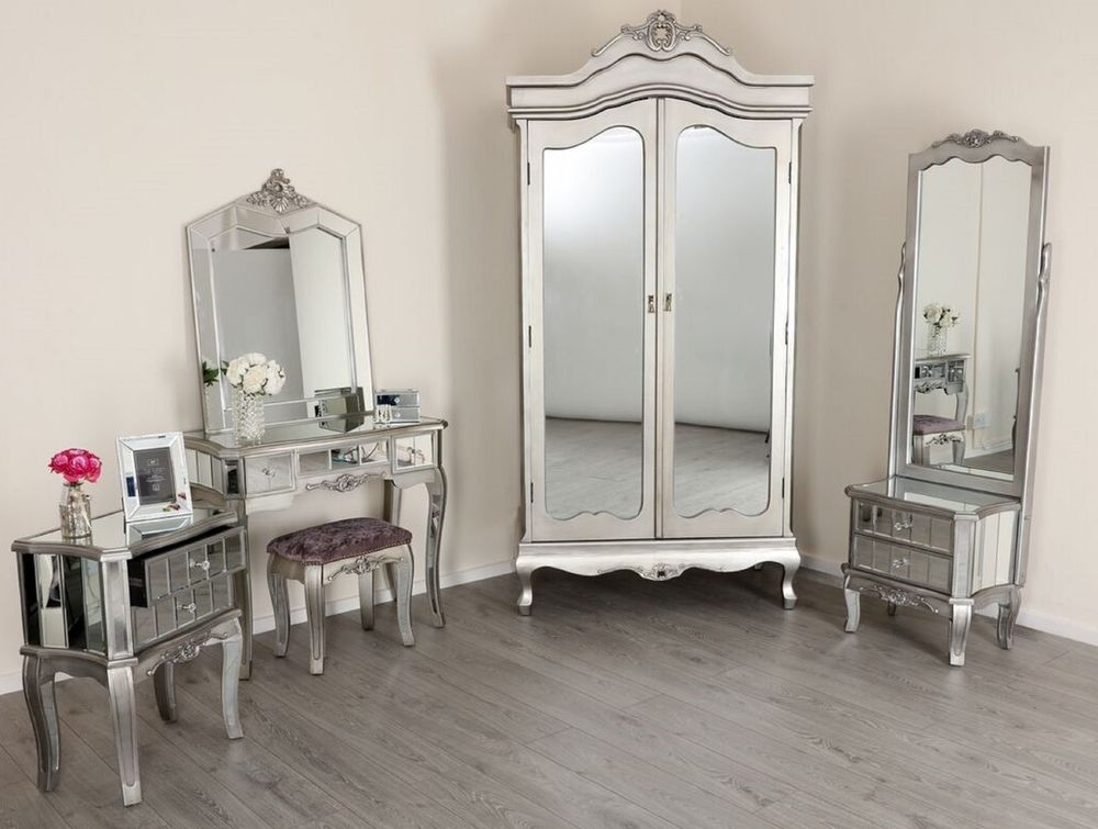 parisian mirrored bedroom furniture photo - 7