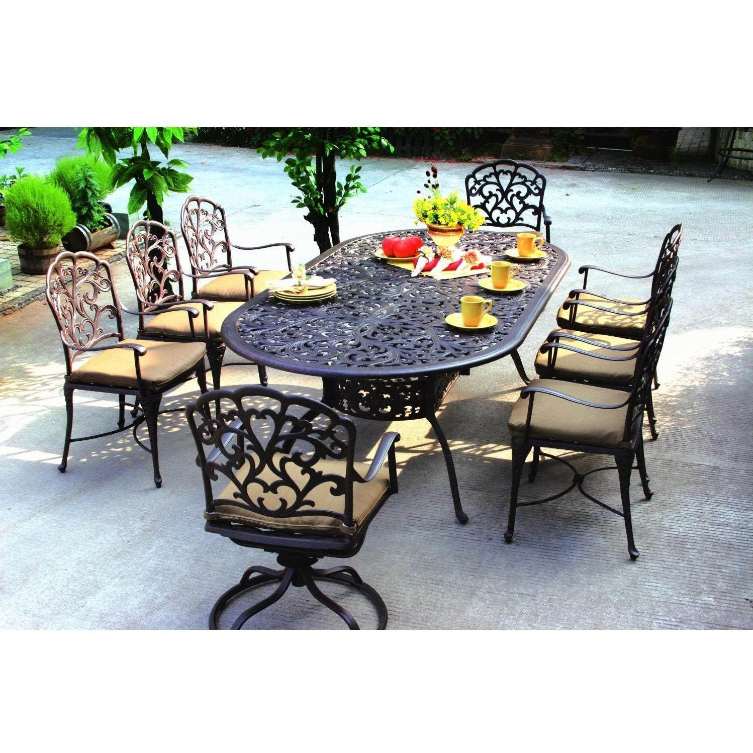 patio dining sets for 8 photo - 3