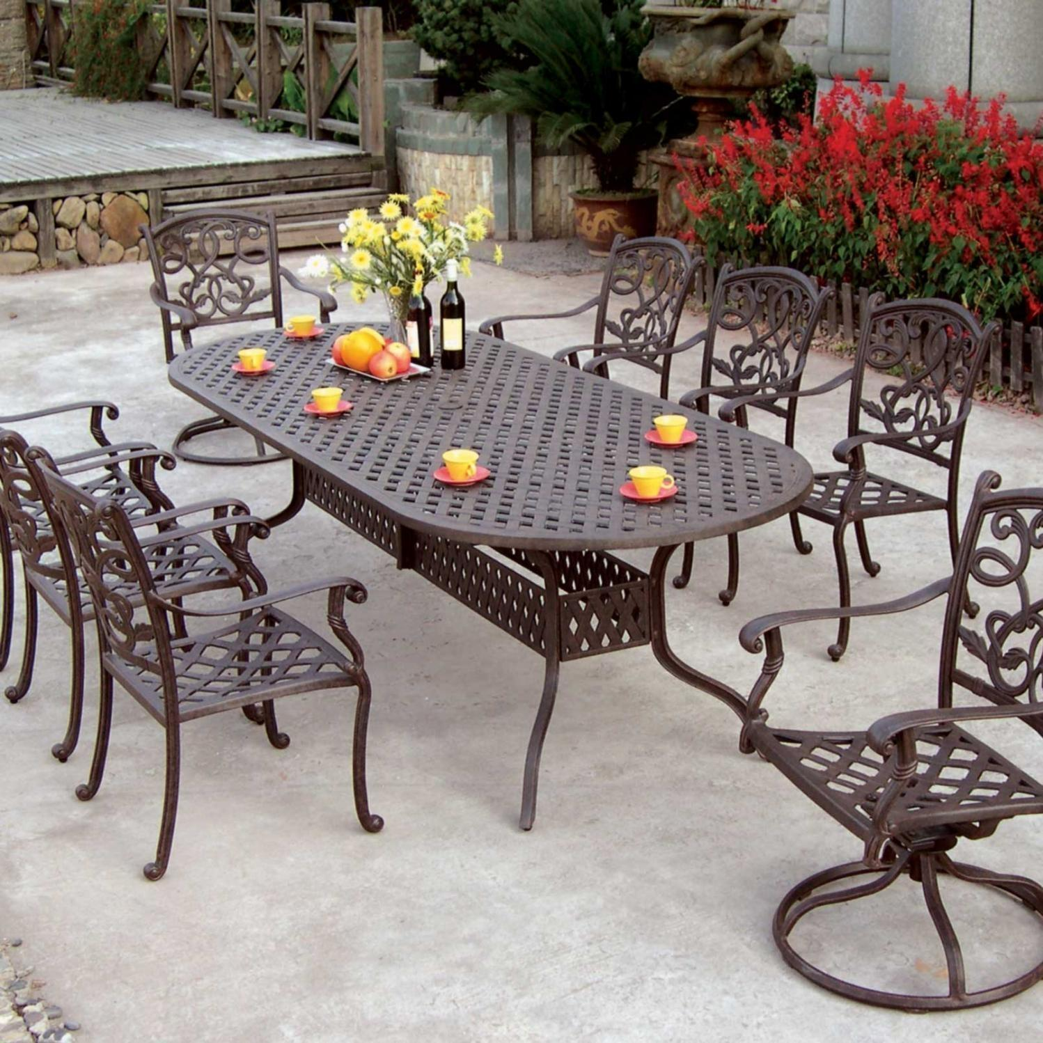 patio dining sets for 8 photo - 8