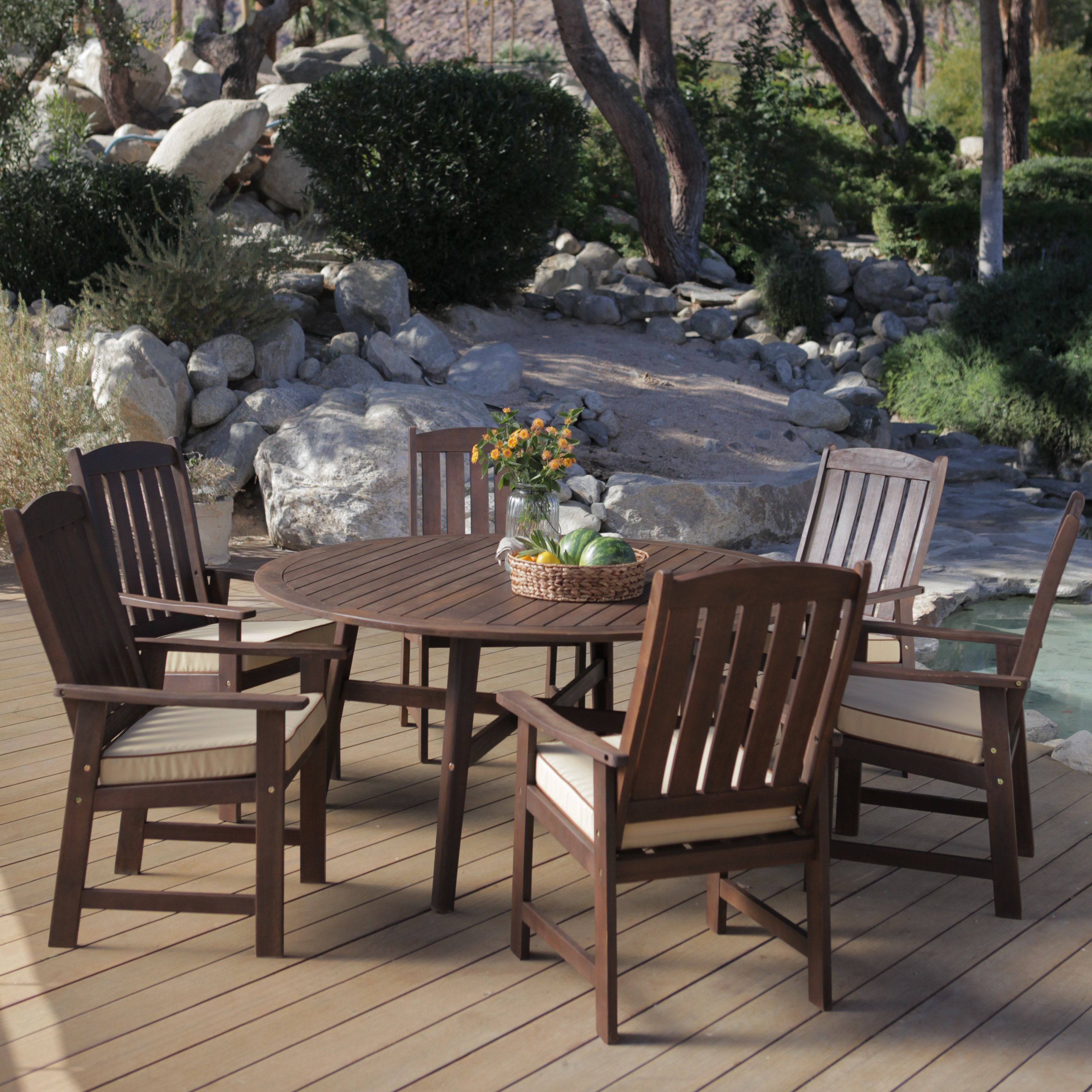 patio dining sets seats 6 photo - 2