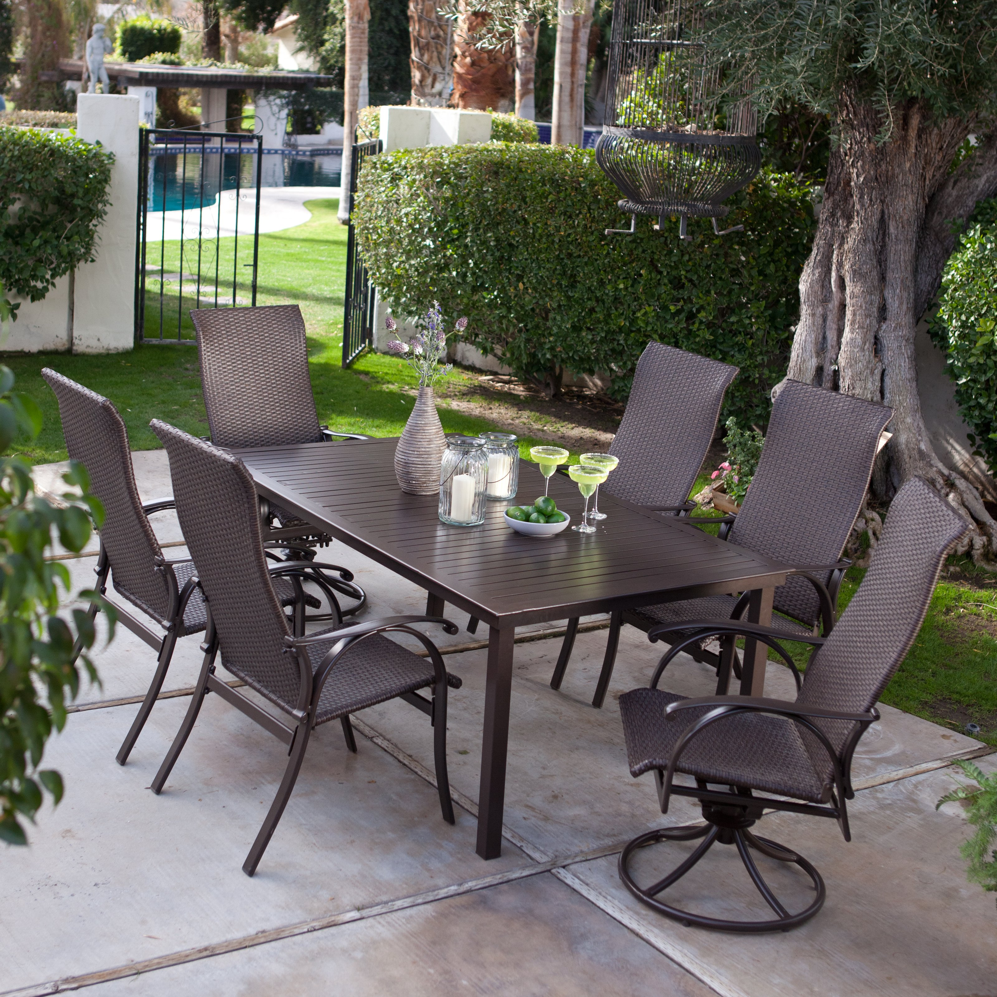 patio dining sets seats 6 photo - 3