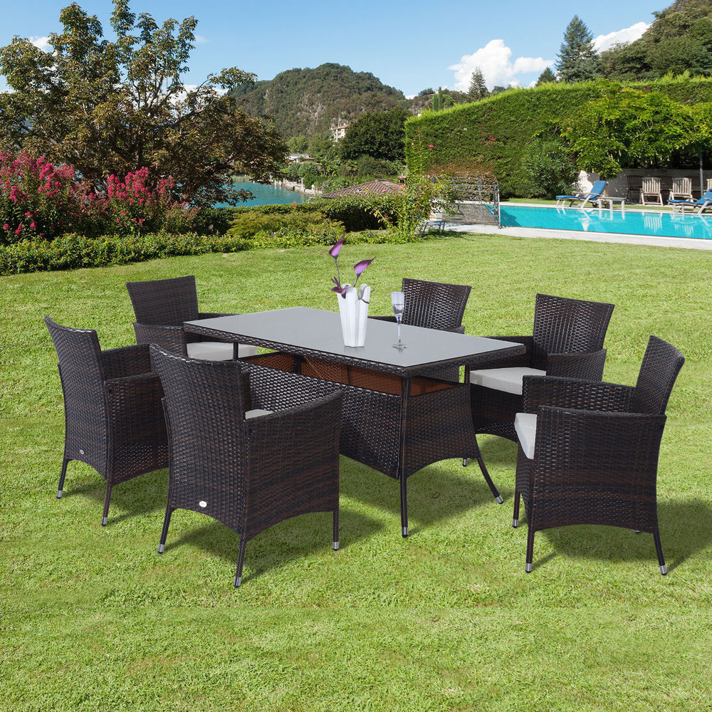 patio dining sets seats 6 photo - 4