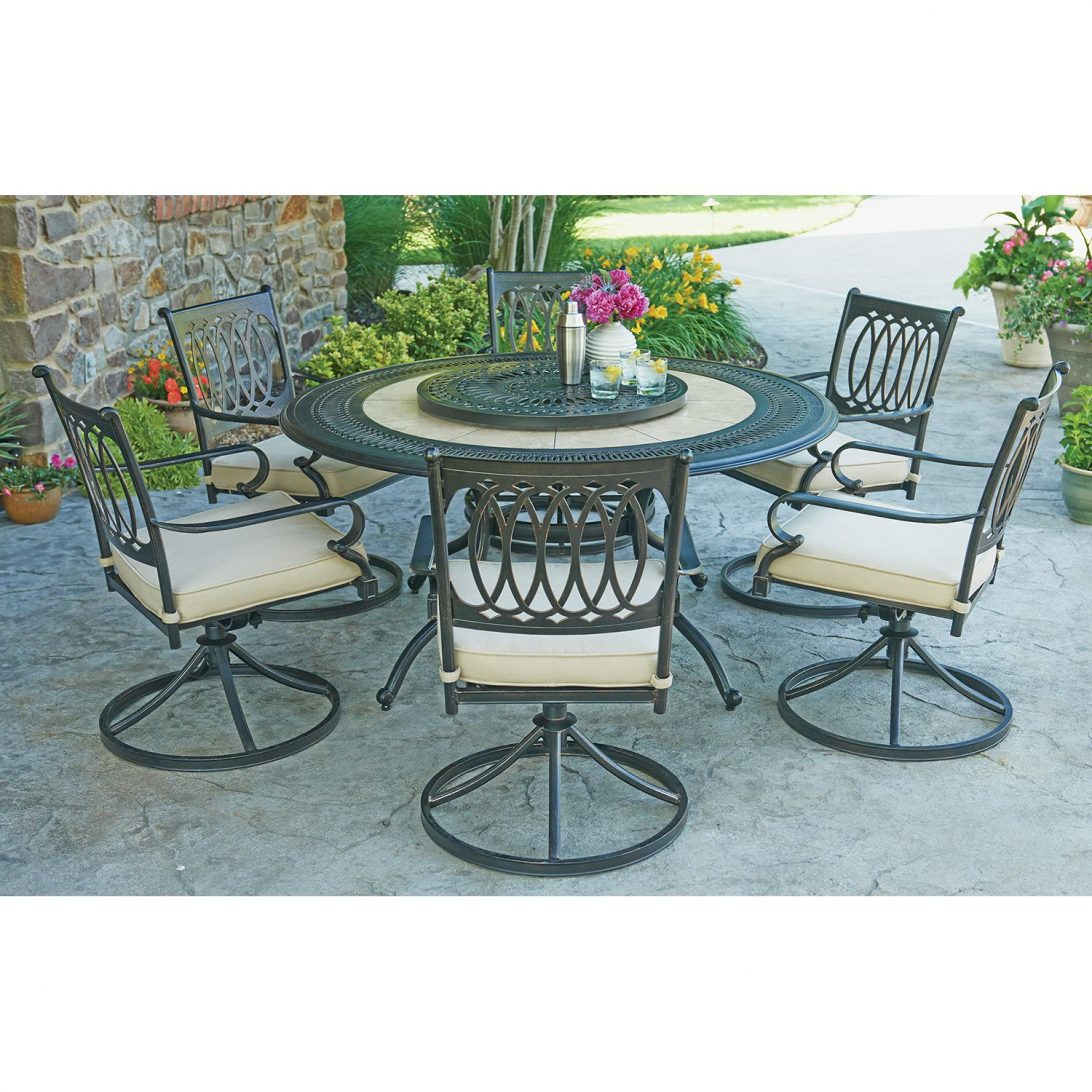 patio dining sets seats 6 photo - 8