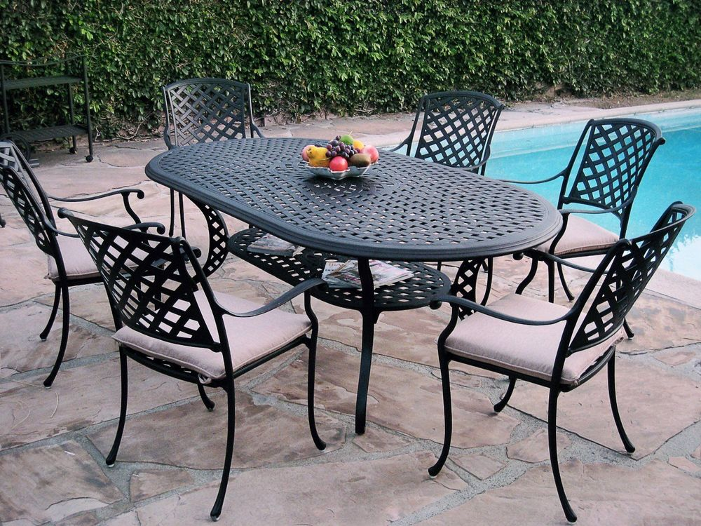 patio dining sets seats 6 photo - 9