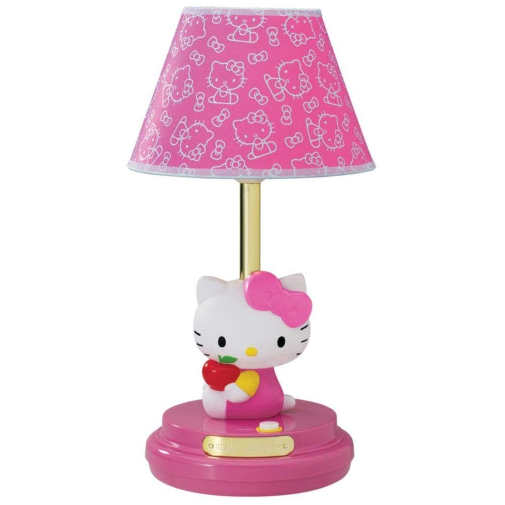 pink bedroom lamp photo - 9
